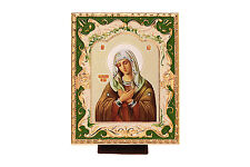 METAL PLATED RUSSIAN CHRISTIAN CHURCH ICON OUR LADY THE VIRGIN OF TENDERNESS