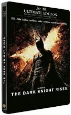 NEUF DC BATMAN THE DARK KNIGHT RISES STEELBOOK ULTIMATE EDITION BLU-RAY + DVD