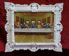 Jesus Christus zwölf Aposteln 12 Apostel das letzte Abendmahl Jesu 45x38 in Weiß