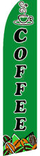 COFFEE Espresso Hot Swooper Banner Feather Flutter Bow Tall Curved Top Flag Sign