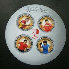 Sao Tome Table Tennis 2013 China Ping Pong Sport Games (ms) MNH *odd shape