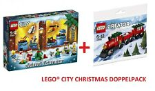 LEGO® 60201 CITY Adventskalender + 30534 CREATOR Weihnachtszug Polybag NEU / OVP