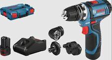 Bosch Professional Akku-Bohrschrauber GSR 12V-15 FC + 4 Aufsätze (06019F6000)