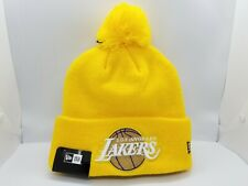 NEW ERA KNIT CUFFED BEANIE.  NBA LOS ANGELES LAKERS.
