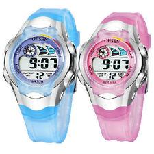 OHSEN Children Girls Boys Date Water Proof Sport Digital Quartz Wrist Watch Gift