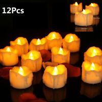 12x LED Teelichter Timer elektrische Teelichter LED Kerzen Teelicht mit Batterie