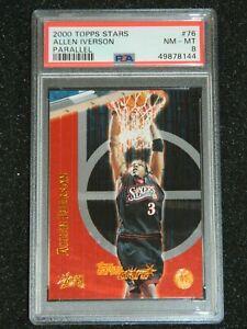 2000 Topps Stars Allen Iverson Serial #'d / 299 Parallel #76 PSA 8 NM-MT POP 1