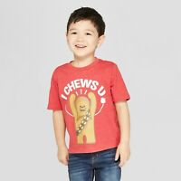 Toddler Boys Star Wars Chewbacca I Chews U/You SS T-Shirt Red Valentines Day