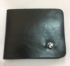 BMW Wallet in Black Leather Backpack Bifold ID Holder
