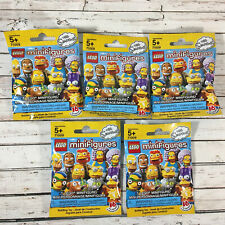 NEW Lego The Simpsons Series 2 Minifigure Lot of 5 Sealed Blind Bags