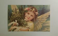 Reproduction Victorian Angels Cupids Valentine Flowers -  Postcard #8
