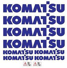 KOMATSU  MINI DIGGER DECALS STICKERS