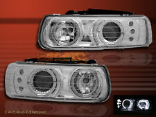 1999 - 2002 CHEVROLET SILVERADO CHROME PROJECTOR HEADLIGHTS TWIN HALO LED