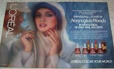 1978 vintage ad - L'Oreal cosmetics Norwegian Woods Loreal PRINT AD