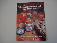 advertising Pubblicità 1981 SUGO ALLE VONGOLE BARILLA