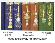 Jeweled Bookmarks Beaded Beading Craft Kit Mac Enterprises Mary Maxim Vintage