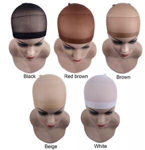 4PCS🔥Unisex Wig Cap Breathable Stretchable Nylon Stretch net Biege Brown Black