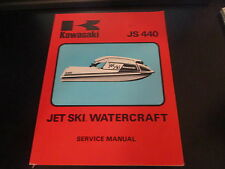 Kawasaki OEM Jetski Watercraft JS440 Service Manual 99963-0001-01