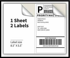 200 Premium 85 X 55 Half Sheet Shipping Labels Self Adhesive Usa Made