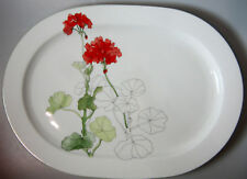 "Block Geranium PLATTER 15 1/2""  PERFECT"