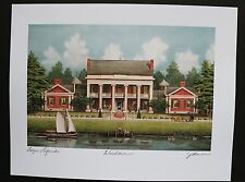 """""""Woodlawn Plantation"""", print by Jim Blanchard, signed and titled"""