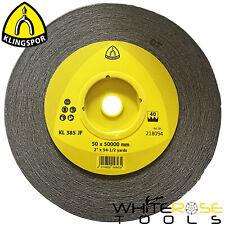 Klingspor Aluminium Oxide Abrasive Sanding Roll Sandpaper 50mm x 50m KL385JF