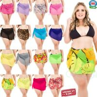 Coqueta Swimwear Pareo Swimsuit Wrap PLUS SIZE Chiffon Cover up Beach Sarong New