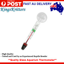 Glass Fish Reptile Aquarium Tank Temp Water Marine Thermometer Temperature