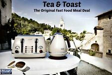 Kettle and Toaster Sets Retro DeLonghi Icona Cream Kettle + 4 Slice Toaster New