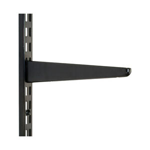 Black Twin Slot Shelving Uprights & Brackets - Adjustable Shelving System