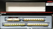 Märklin Z Gauge 81551 Lufthansa Train Set with Electric Locomotive Wagons