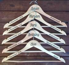 Personalised Wedding Coat Hanger DECAL SET. Date, name & position STICKERS