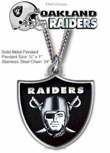 RAIDERS NECKLACE STAINLESS STEEL CHAIN RAIDER NATION NFL FOOTBALL - FREE SHIP B'