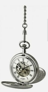 Rotary Full Hunter Mechanical Pocket Watch With Chain MP00726/01 RRP £155.00