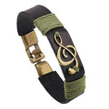 Bracelet en cuir Punk Rock Wrap pour homme / femme Vintage