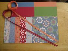 "Stampin Up DARLING DOODLES 6 X 6"" Designer Paper Card Kit Ribbon"