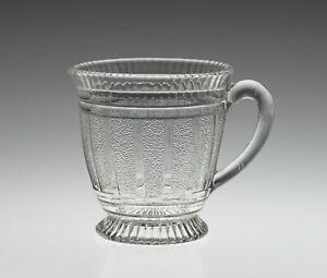 Sowerby Press Moulded Glass Custard/Syllabub Cup - Antique Victorian 1879