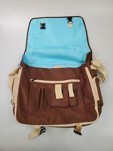 Jansport Brown and Blue Network Messenger Bag Crossbody or Over the Shoulder