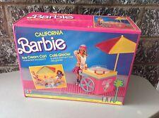 1987# MATTEL BARBIE ICE CREAM CART 5163 NRFB very rare NIB