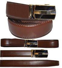 "Men's belt. Leather Dress Belt Automatic lock Click Comfort New Buckle UP 43"""