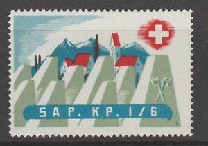 Switzerland Swiss Army Military Local Post Stamp 4-12 MNH Gum nice