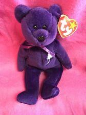 VERY RARE 1st EDITION PVC ~ PRINCESS (Diana) Bear 1997 Ty Beanie Baby ~No space