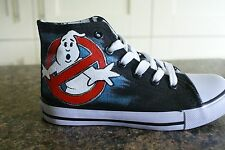 GHOST BUSTERS INSPIRED CUSTOM HAND PAINTED HIGH TOPS MADE TO ORDER