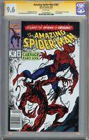 Amazing Spider-Man #361 CGC 9.6 NM+ SIGNED STAN LEE 1st Full App CARNAGE Venom
