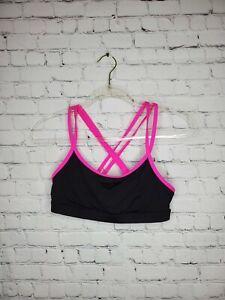 PINK VS Women's Size M Compression Black/Pink Yoga Crossback Sports Bra