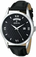 Invicta Mens Vintage Analog Display Swiss Quartz Black Watch