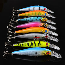 Bulk 40pcs Minnow Fishing Lures Laser Bass Crank Bait Rattle Tackle 10cm/9.36g