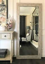 West Frames Cora Rustic Distressed Silver Gold Wash Rectangle Floor Mirror