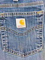 Women's Carhartt Traditional Fit Flare Cut Blue Denim Jeans, Sz 8 X 28 SKU 005