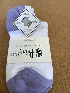 PRINGLE  Ladies 3 Pairs Socks 4-8 EU37-42